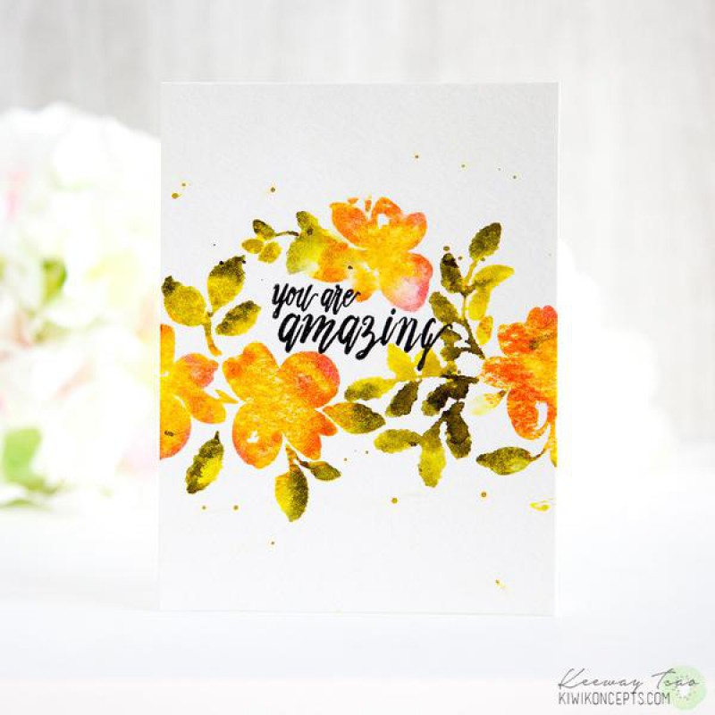 Altenew - Floral Shadow - Clear Stamps 6x8