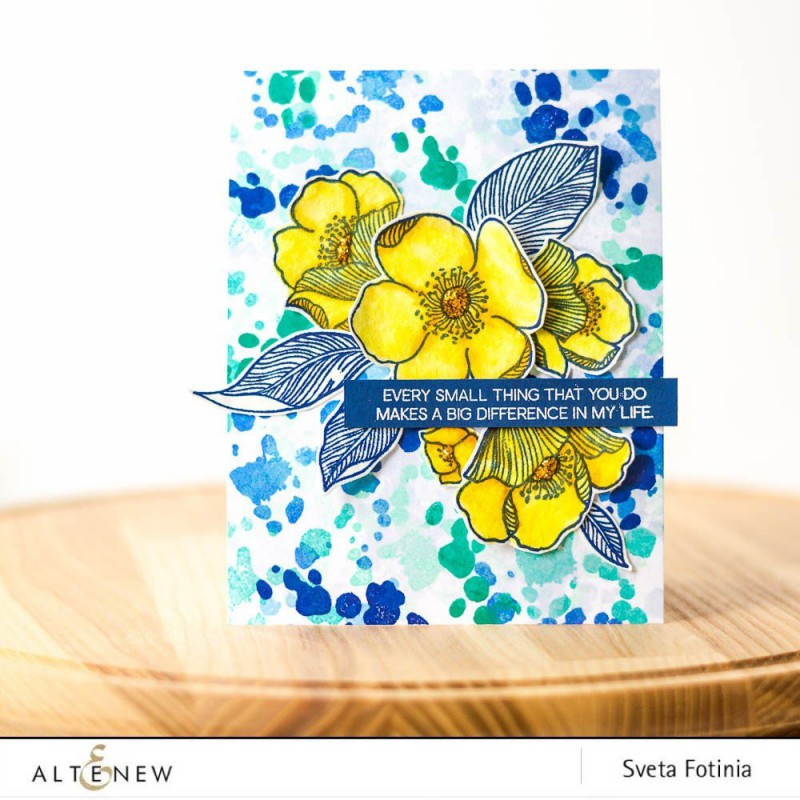 Altenew - A Splash Of Color - Clear Stamps 6x8