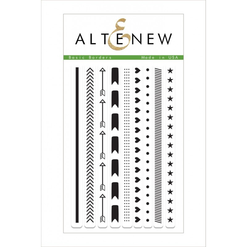 Altenew - Basic Borders - Clear Stamps 4x6