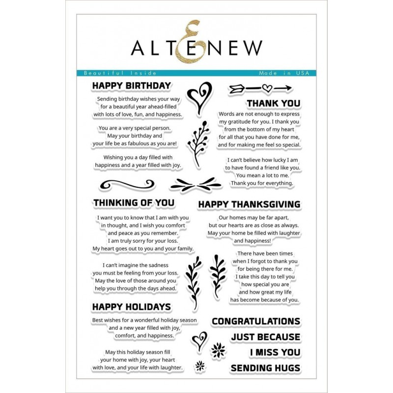 Altenew - Beautiful Inside - Clear Stamps 6x8