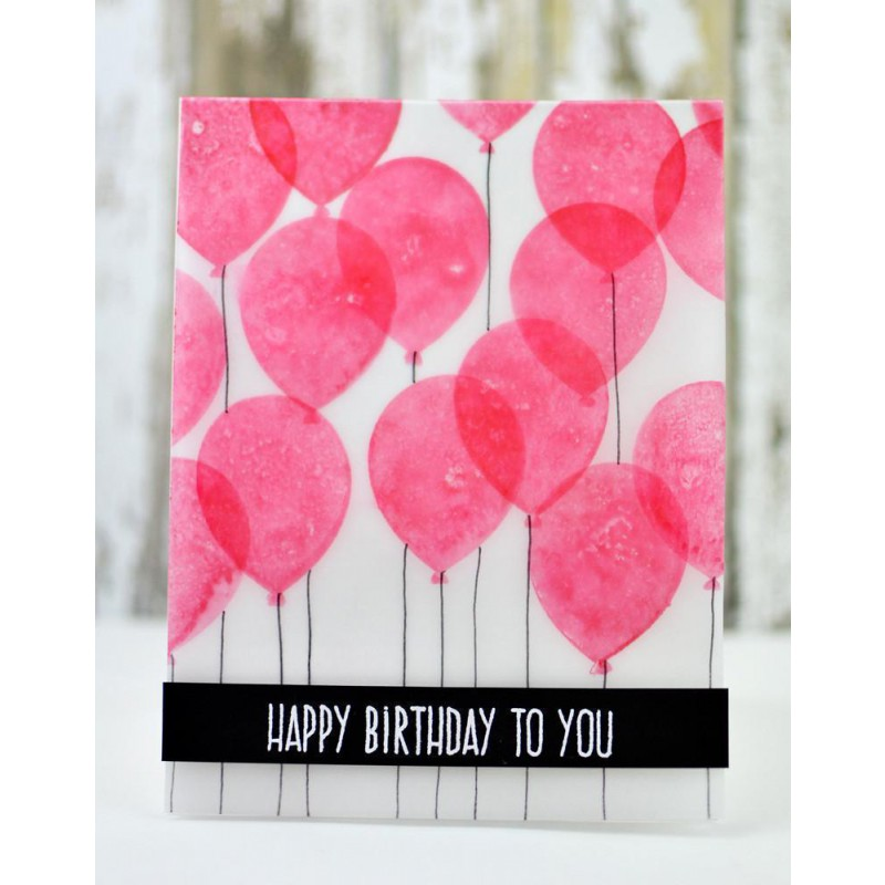 Altenew - Birthday Greetings - Clear Stamp 4x6