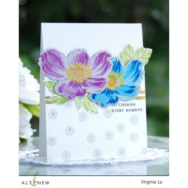 Altenew - Build A Flower: Anemone - Clear Stamps 6x8 & Stanzen