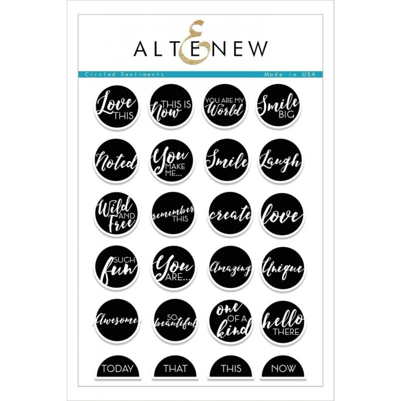 Altenew - Circled Sentiments - Clear Stamps 6x8