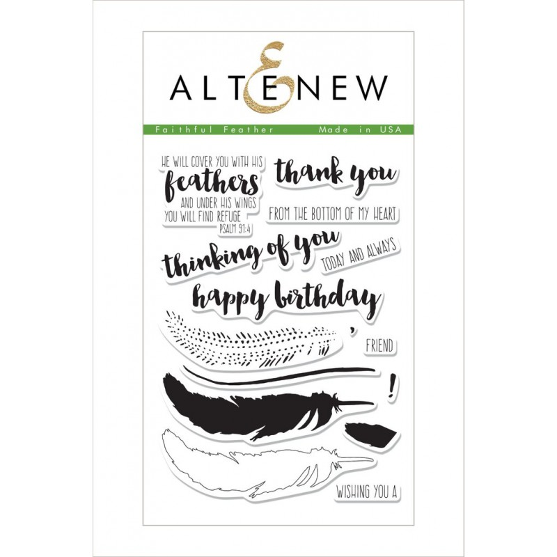 Altenew - Faithful Feather - Clear Stamps 4x6