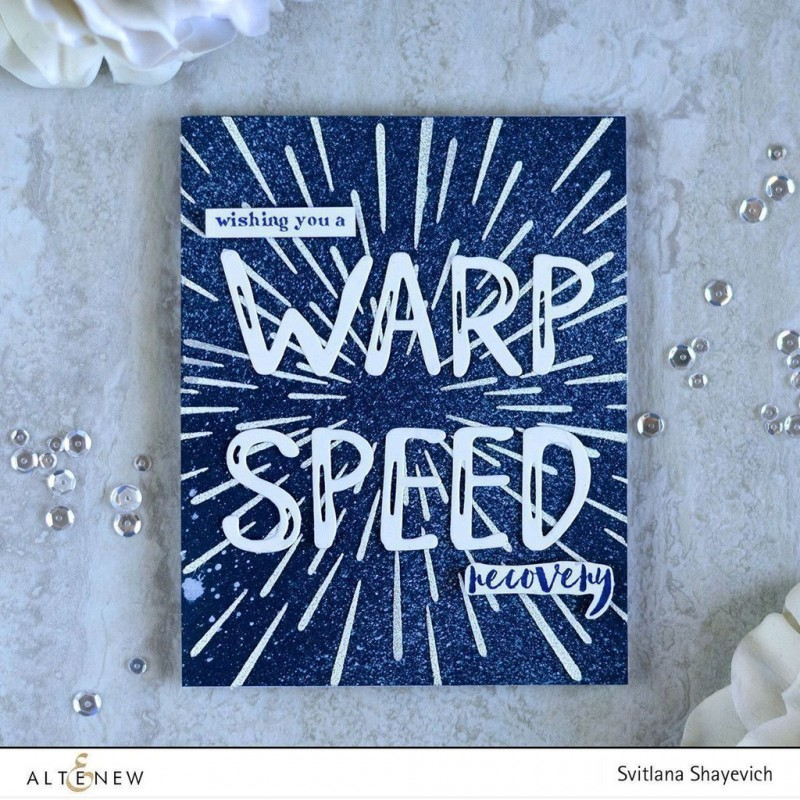 Altenew - Schablone - Warp Speed