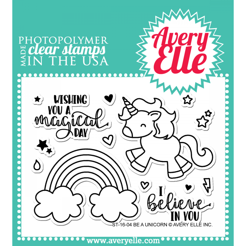 Avery Elle - Be A Unicorn - Clear Stamp 3x4