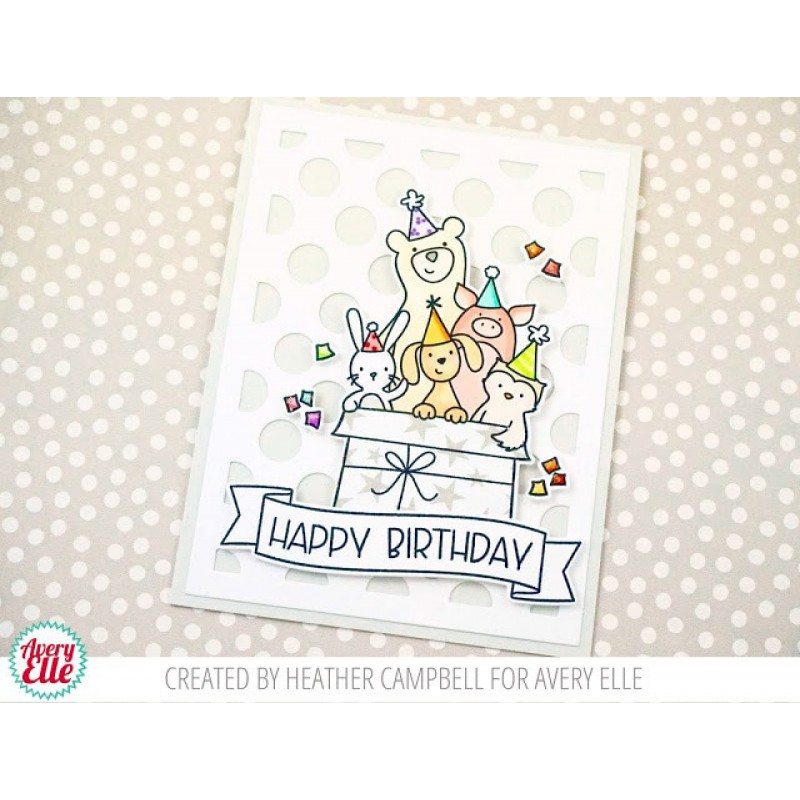 Avery Elle - Critter Crew - Clear Stamp 3x4