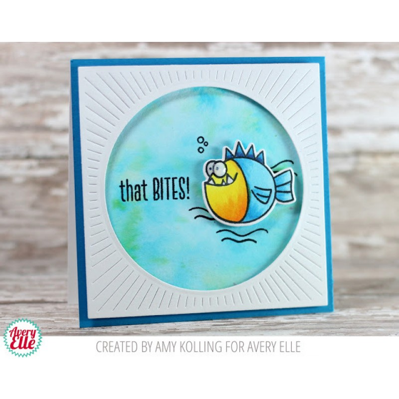 Avery Elle - That Bites - Clear Stamp 3x4