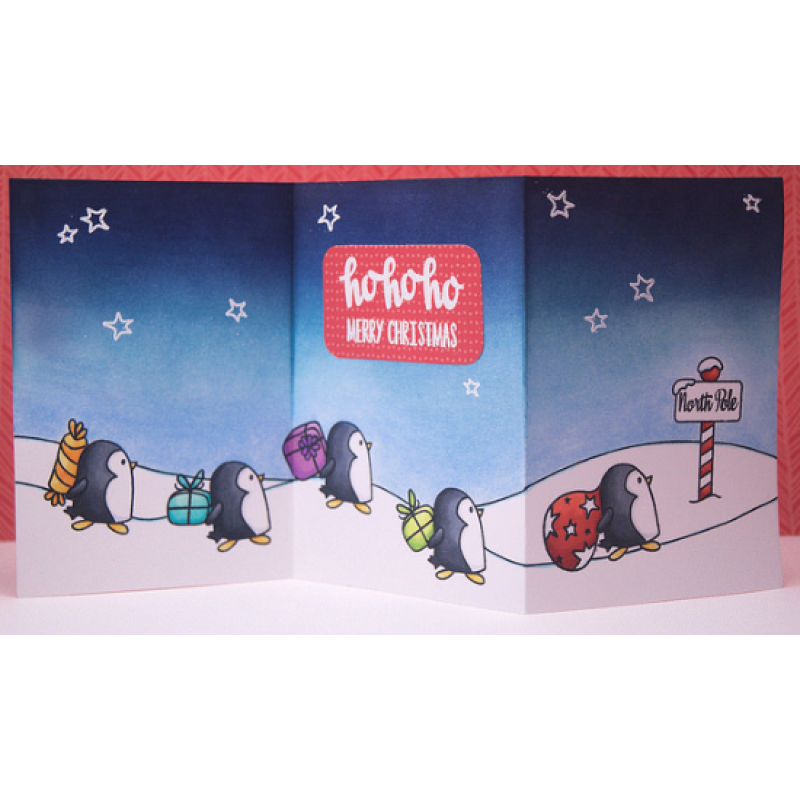 Avery Elle - Stempelset - North Pole für scrapbook und cardmaking