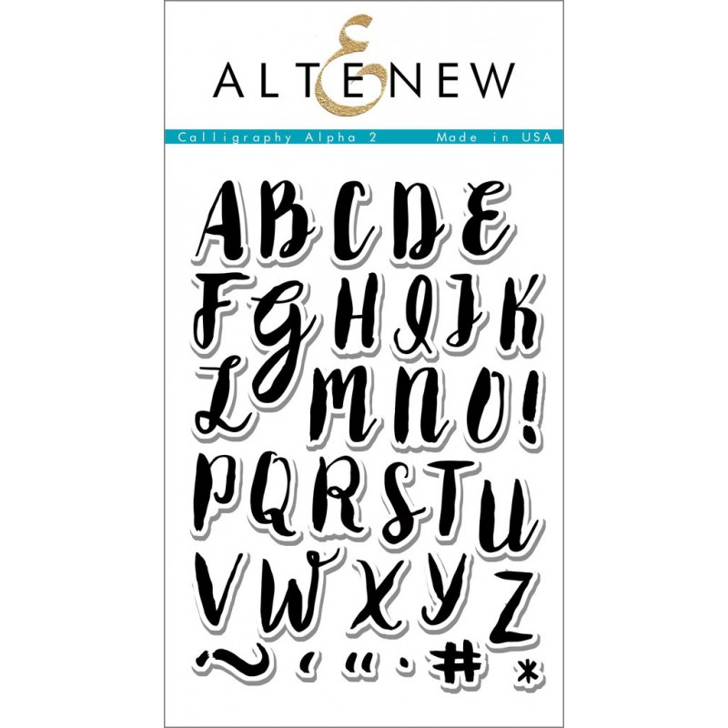 Altenew - Calligraphy Alpha Uppercase - Clear Stamps 4x6