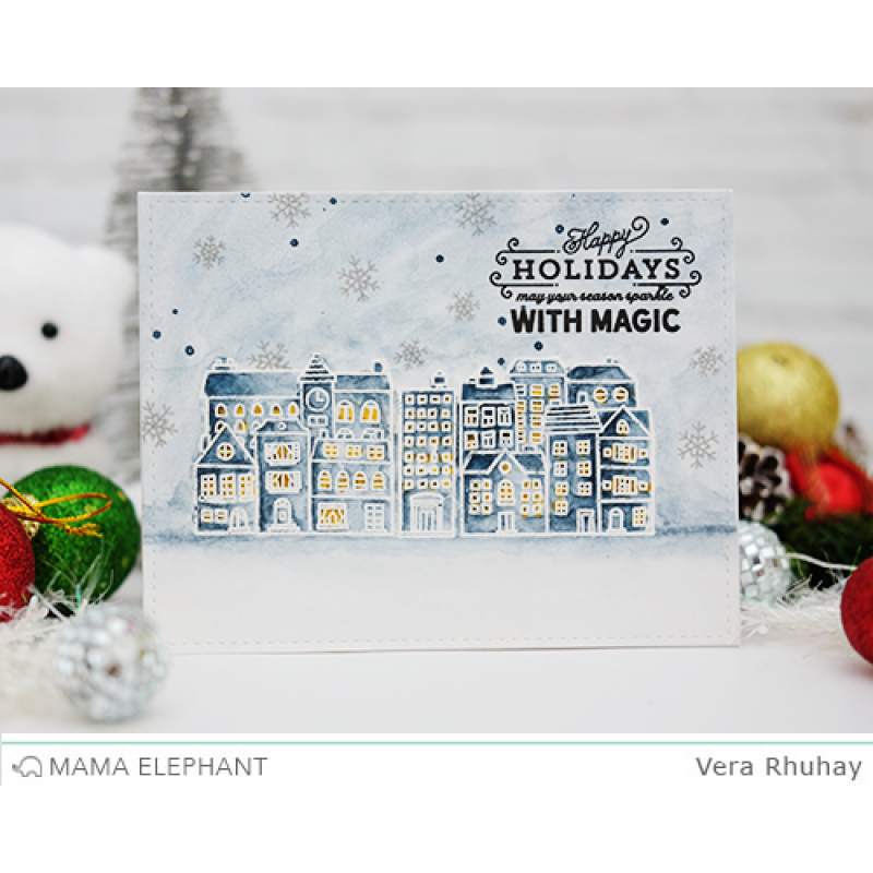 Mama Elephant - City Sidewalks Clear Stamp