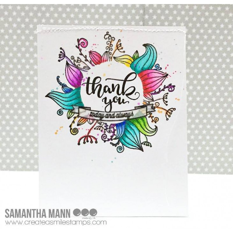Create A Smile - Dekorierte Grüsse - Clear Stamps 4x6