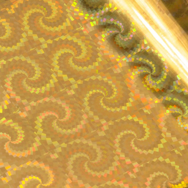 Couture Creations - GoPress and Foil - Gold Spiral Pattern Iridescent Finish 5m