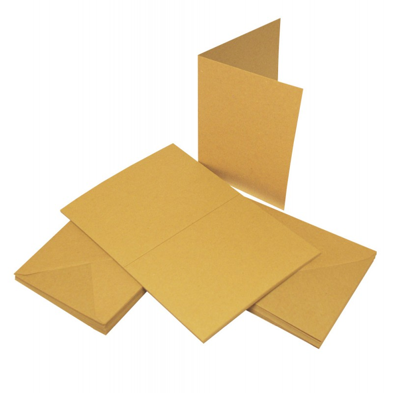 Craft UK Cards & Envelopes C6 Kraft