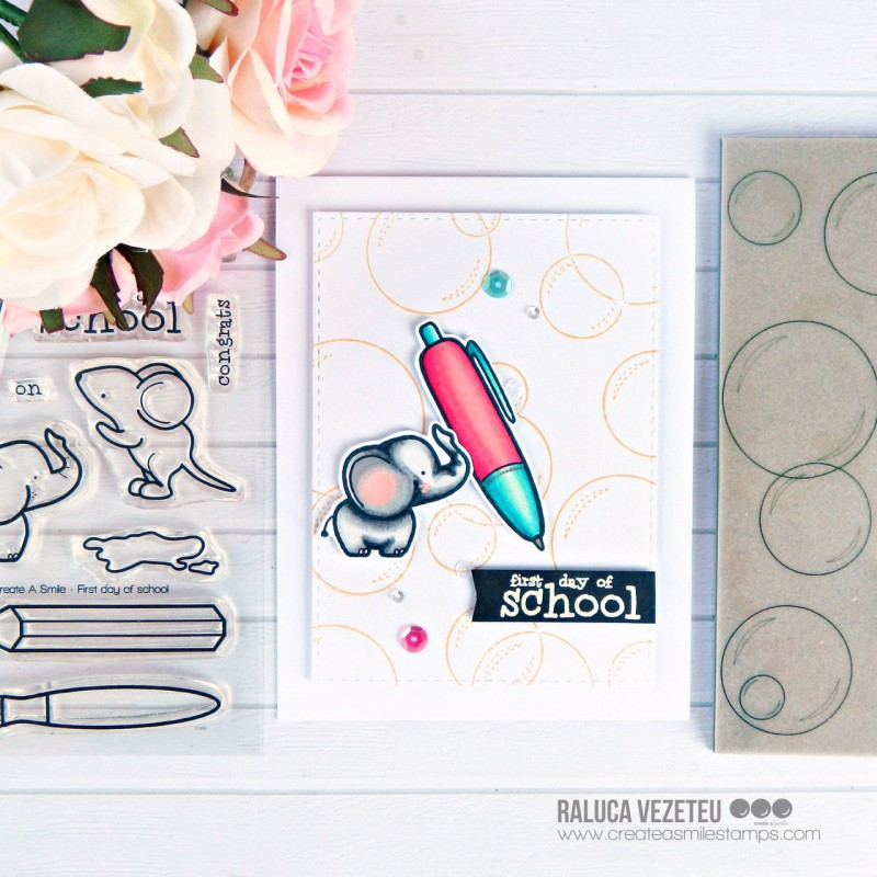 Create A Smile - Endlich Schulkind - Clear Stamps 4x6