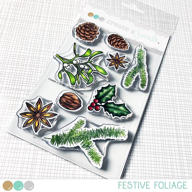 Create A Smile - Festive Foliage - Clear Stamps 4x6