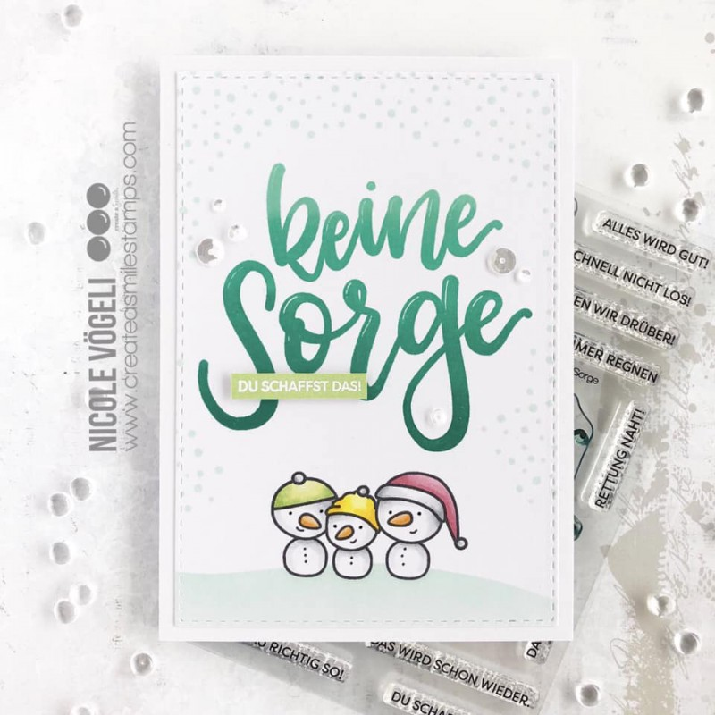 Create A Smile - Keine Sorge - Clear Stamps 4x6