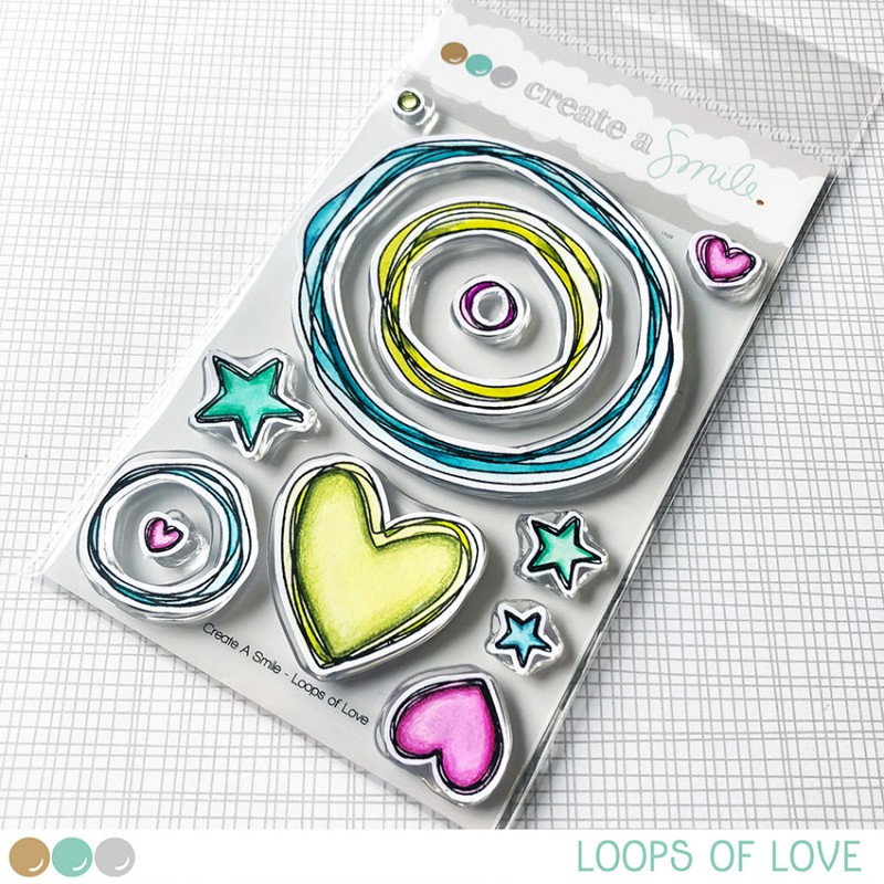 Create A Smile - Loops of Love - Clear Stamps 4x6