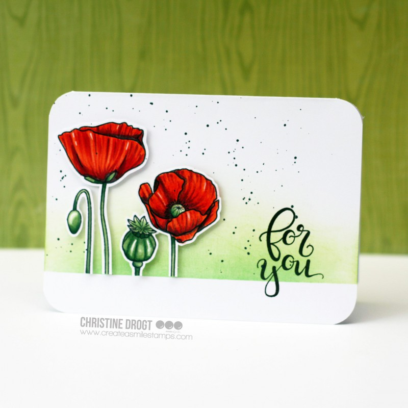 Create A Smile - Pure Poppies - Clear Stamps 4x6