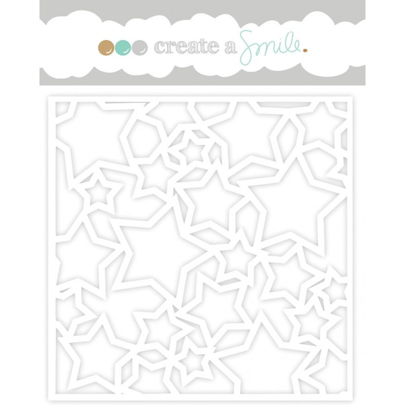 Create A Smile - Schablone - Lots of Stars