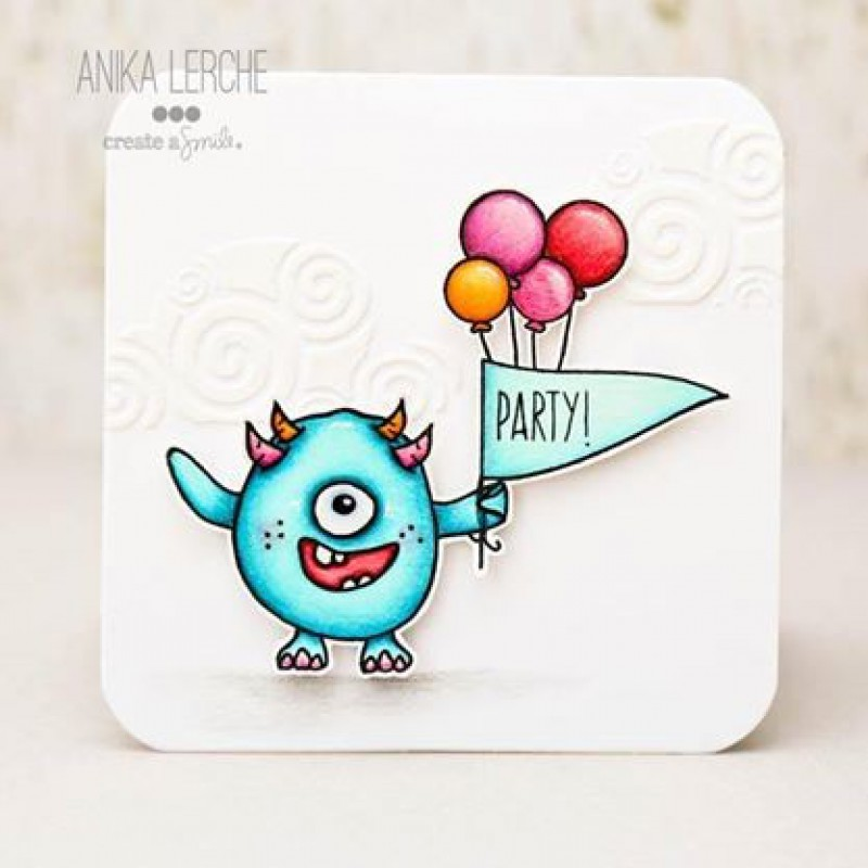 "Create A Smile - Stempelset 4x6"" - Monster Party"