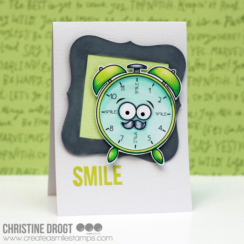Create A Smile - Die Zeit Fliegt Clear Stamp 4x6