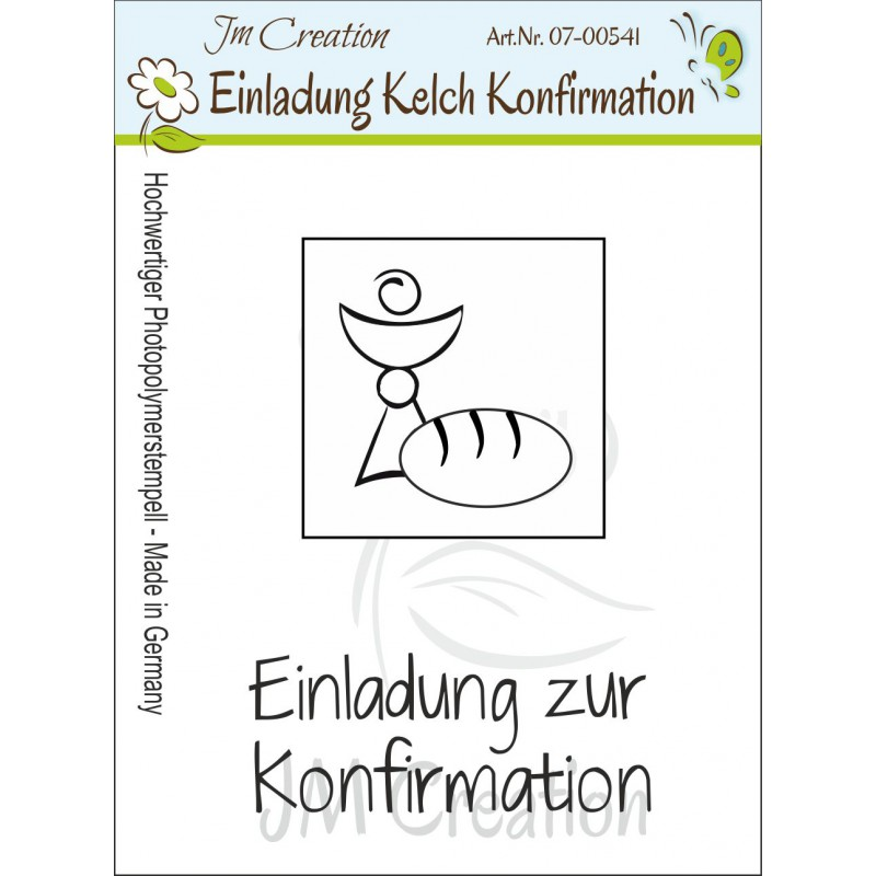 JM Creation - Einladung zur Konfirmation - Kelch - Clear Stamp