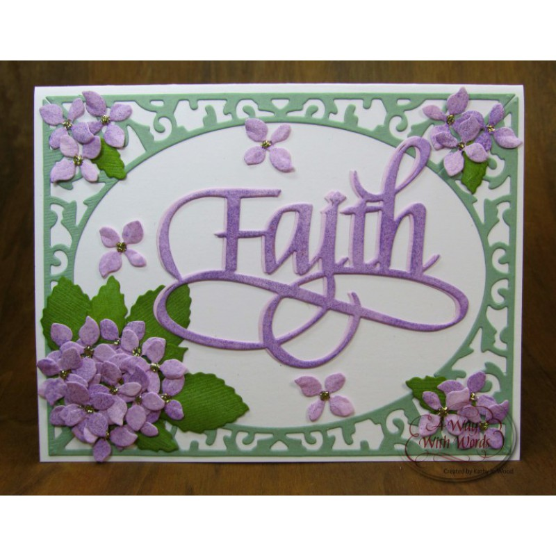 Elizabeth Craft Designs - A Way With Words, Faith
