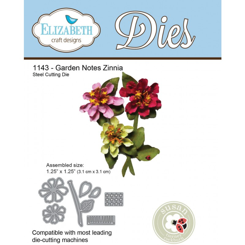 Elizabeth Craft Designs - Garden Notes - Zinnia