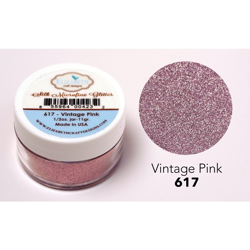 Elizabeth Craft Designs - Silk Microfine Glitter Vintage Pink
