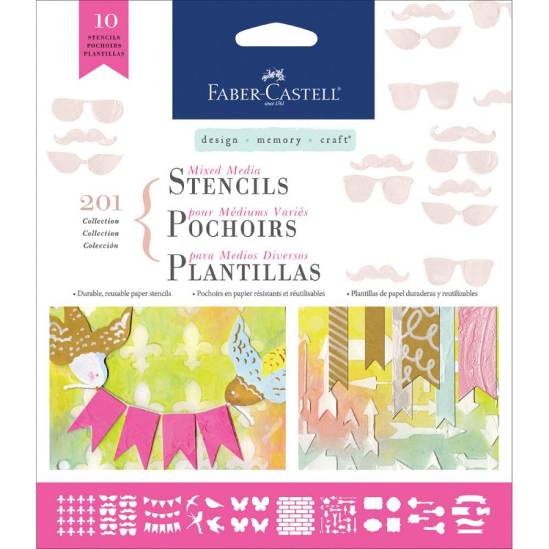 Faber Castell Mixed Media Stencils - Motif