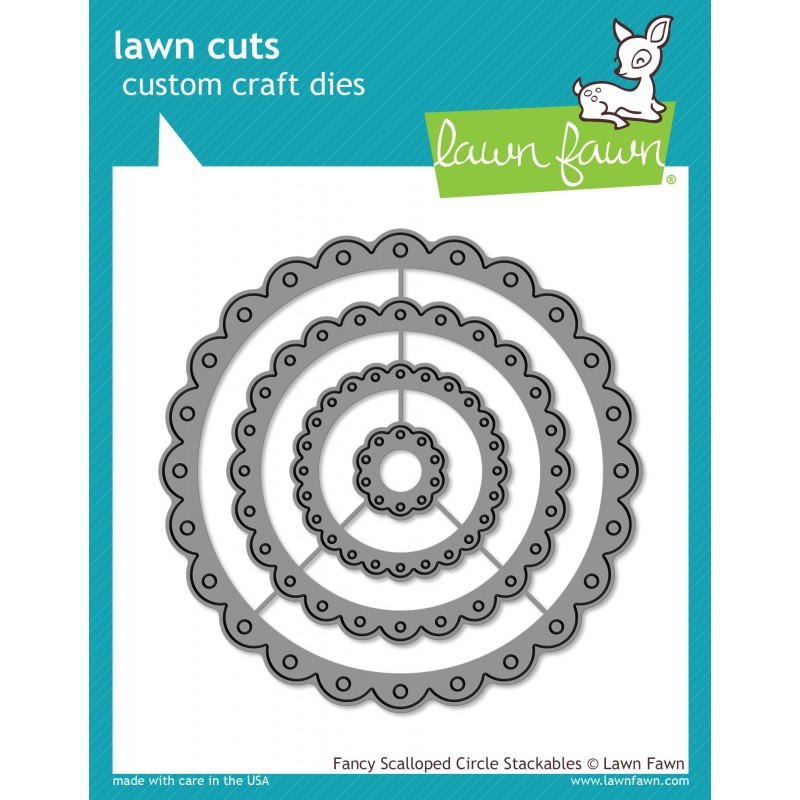 Lawn Fawn - Fancy Scalloped Circle Stackables - Cuts