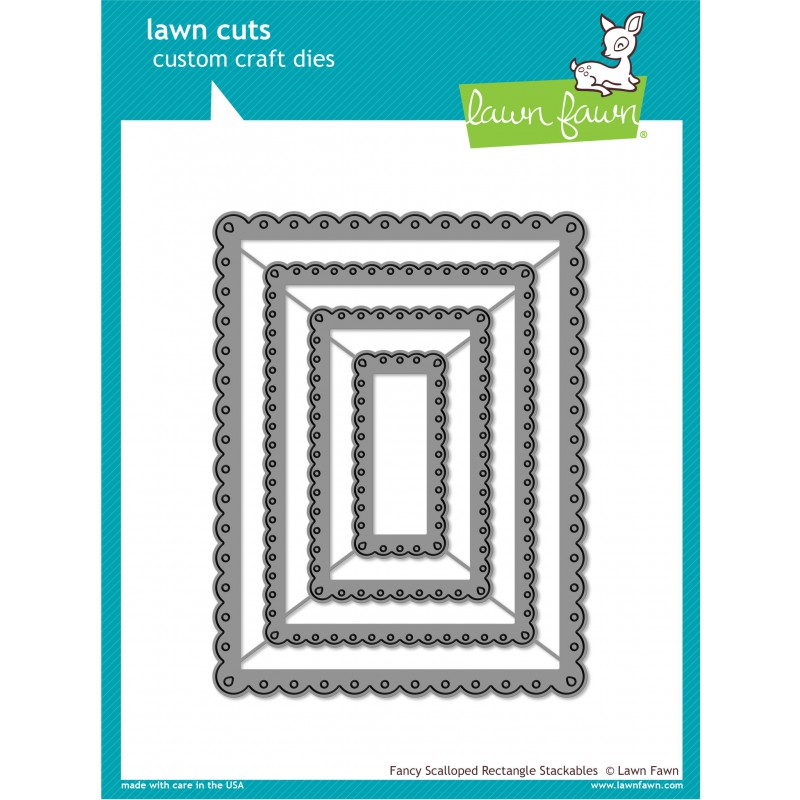 Lawn Fawn - Fancy Scalloped Rectangle Stackables - Cuts