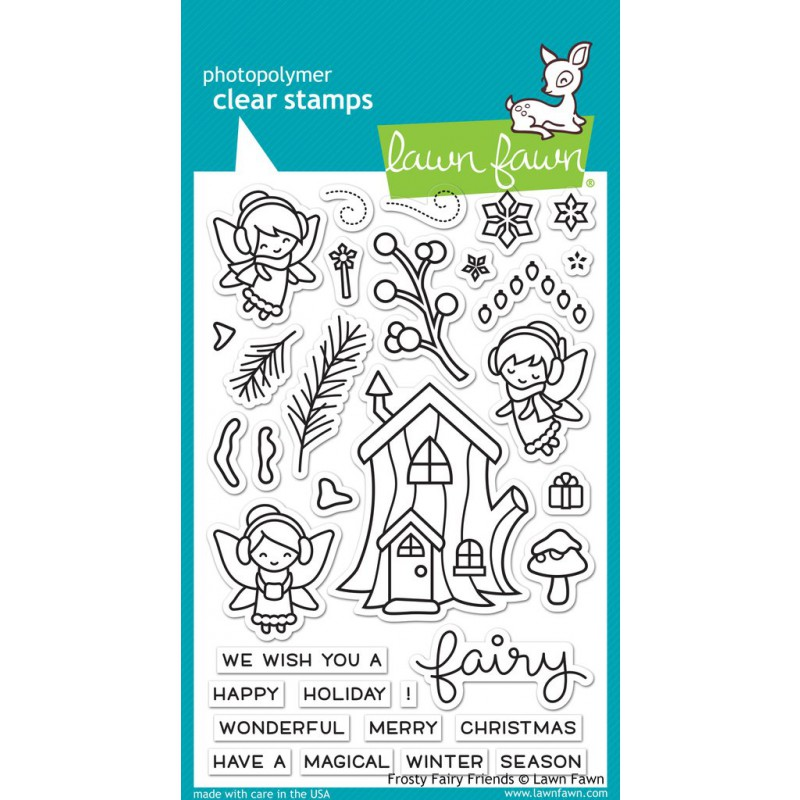Lawn Fawn - frosty fairy friends - Clear Stamp 4x6