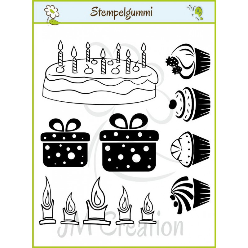 JM Creation - Geburtstag - Cling Stamp