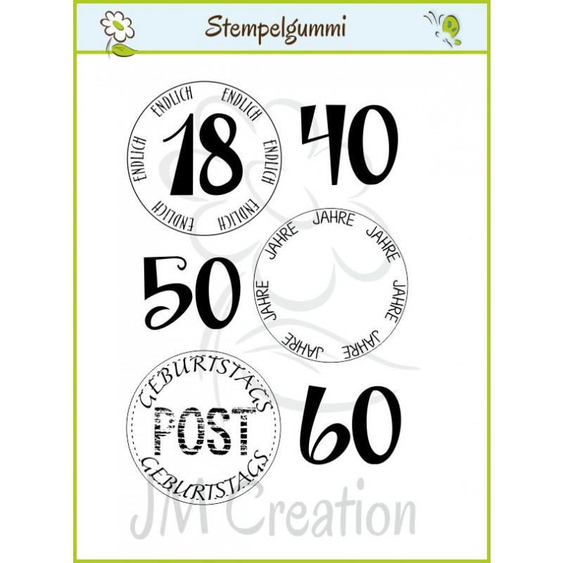 JM Creation - Geburtstagspost - Cling Stamp