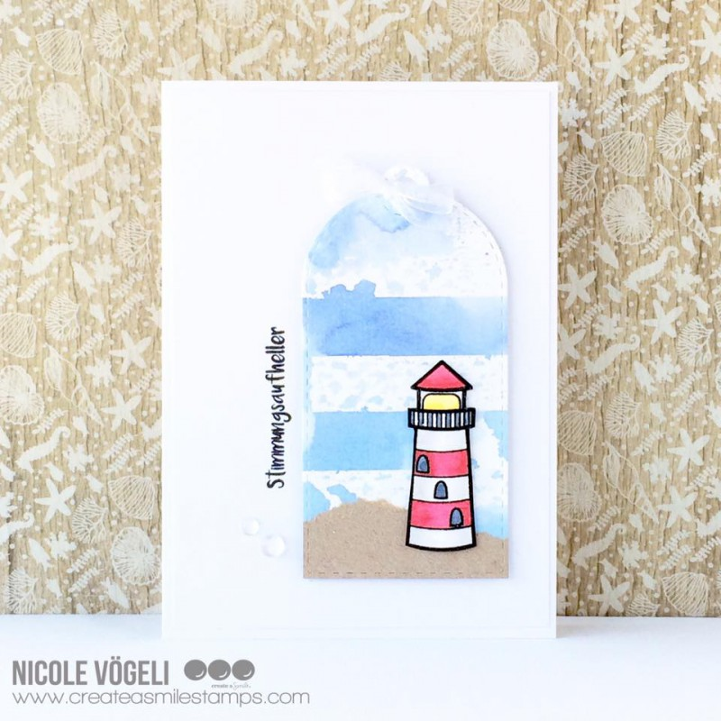 Create A Smile - Glowing Seaside Clear Stamp 4x6