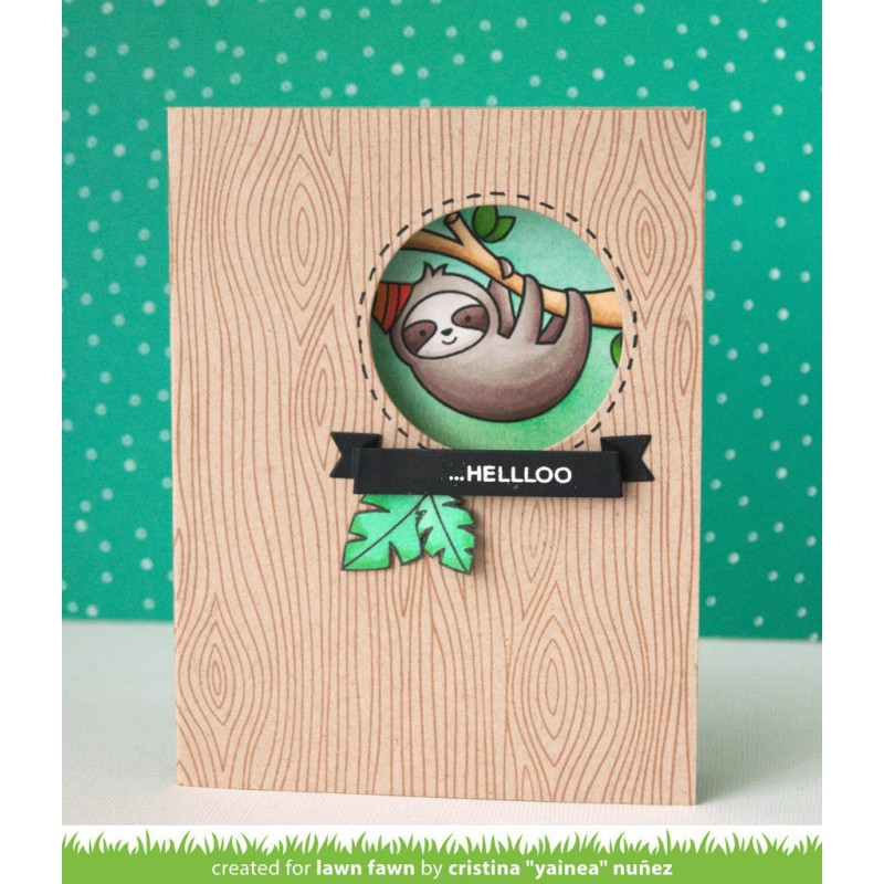 Lawn Fawn - Hang In There - Clear Stamp 3x4