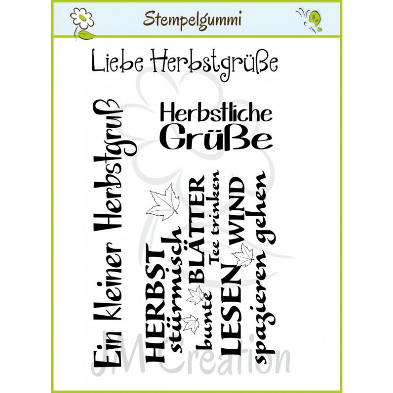 JM Creation - Herbstgrüße - Cling Stamp
