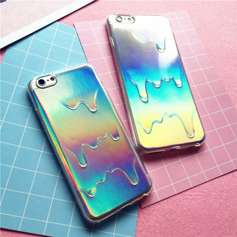 iPhone 7 plus - Case Holographic Rainbow Drops