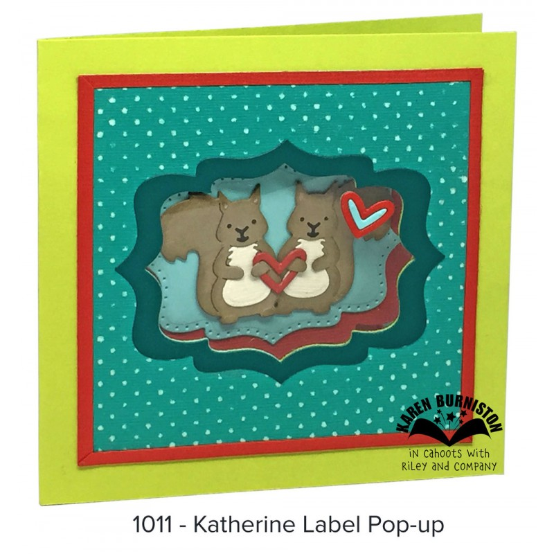 Karen Burniston - Katherine Label Pop-Up Stanzen