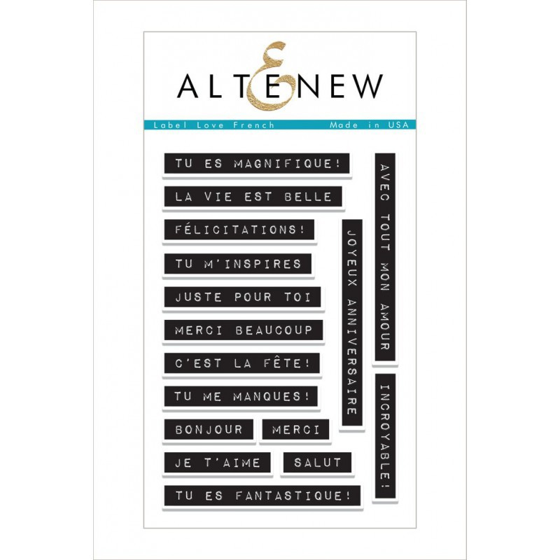 Altenew -  Label Love Francais - Stempelset 4x6