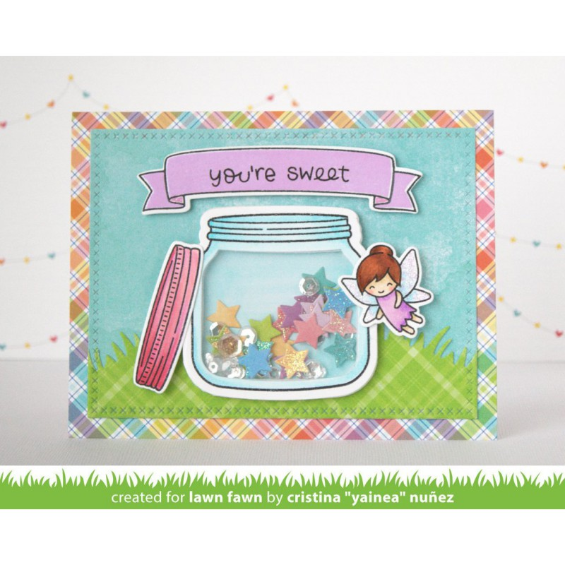 Lawn Fawn - How Have You Bean? Shaker Add-On - Stanze
