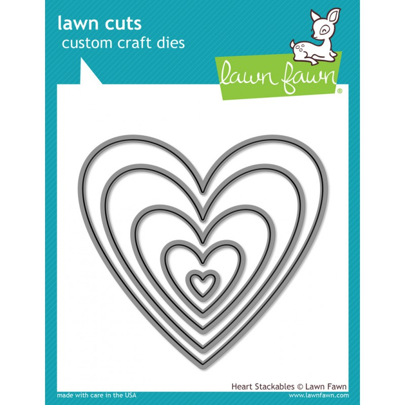 Lawn Fawn - Lawn Cuts - Heart Stackables