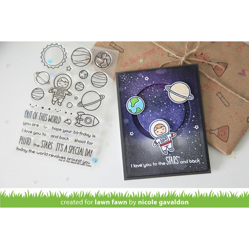 Lawn Fawn - Out Of This World - Clear Stamp 4x6