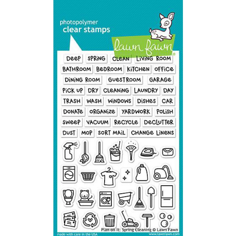 Lawn Fawn - Plan On It: Spring Cleaning - Clear Stamps 4x6