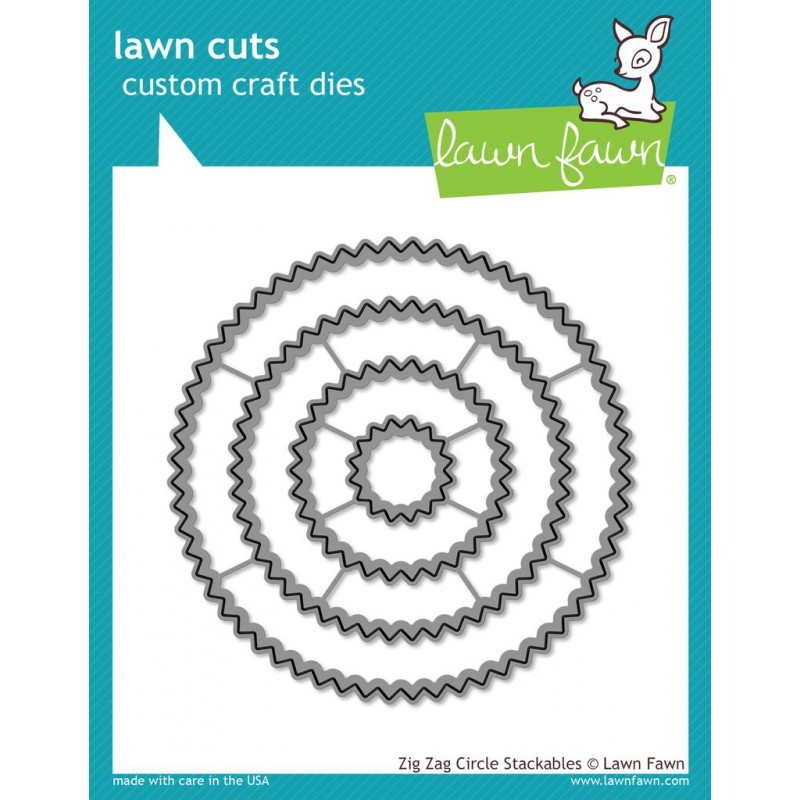 Lawn Fawn - Zig Zag Circle Stackables - Stanze