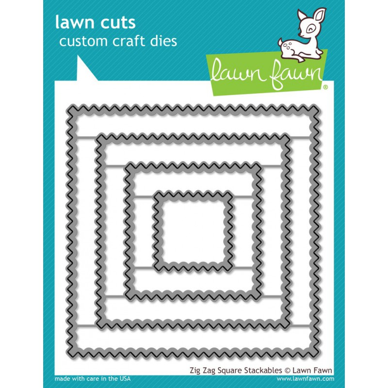 Lawn Fawn - Zig Zag Square Stackables - Stanze