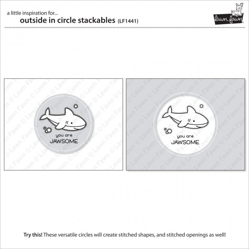 Lawn Fawn - Outside In Stitched Circle Stackables - Stanze