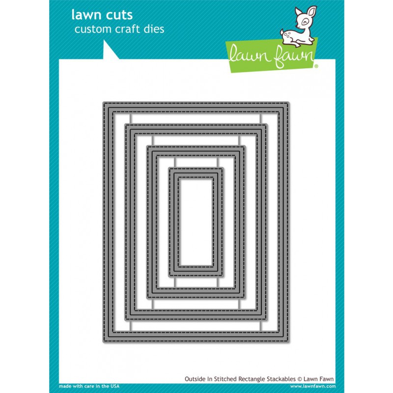 Lawn Fawn - Outside In Stitched Rectangle Stackables - Stanze